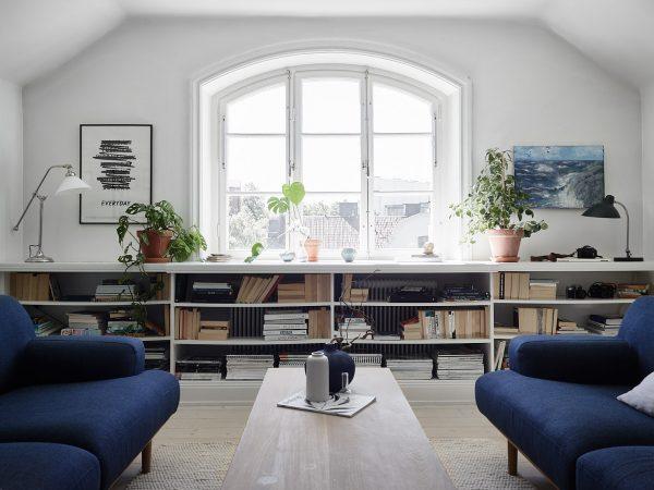 lage boekenkast woonkamer