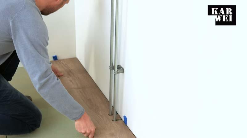laminaat leggen handleiding eerste twee banen
