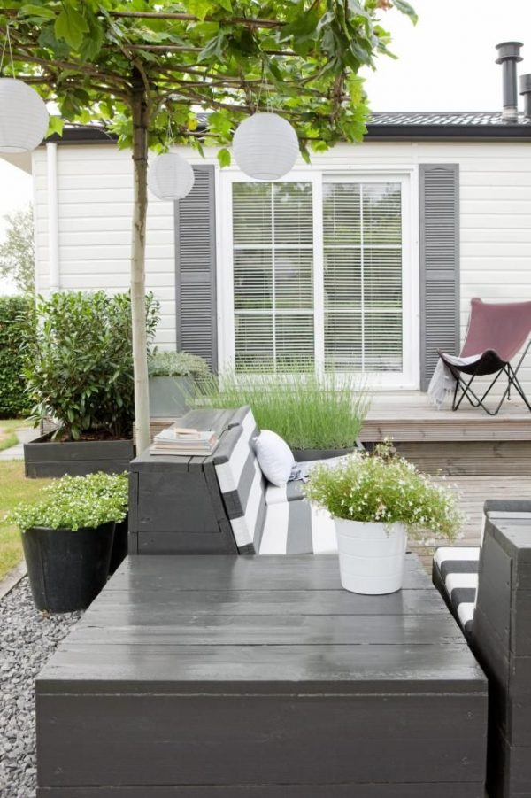 lampionnen moderne tuin