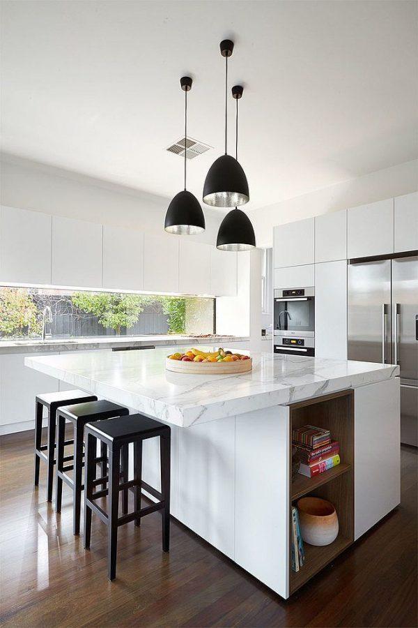 Licht marmeren keuken   thestylebox