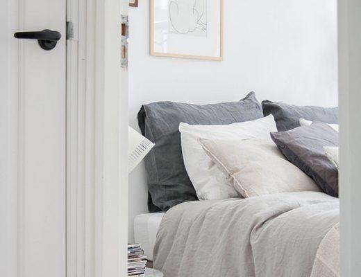 linnen dekbed slaapkamer