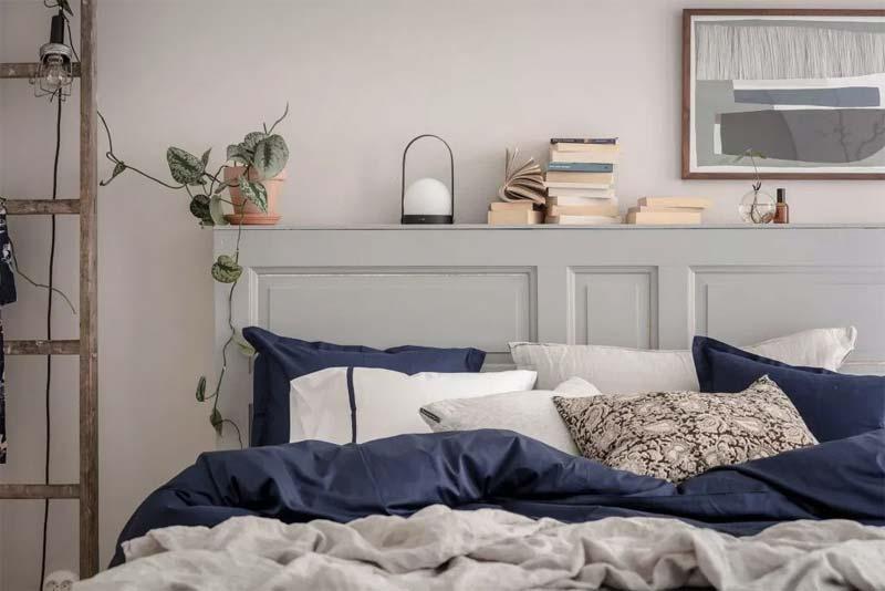 logeerkamer nachtkastje achter bed