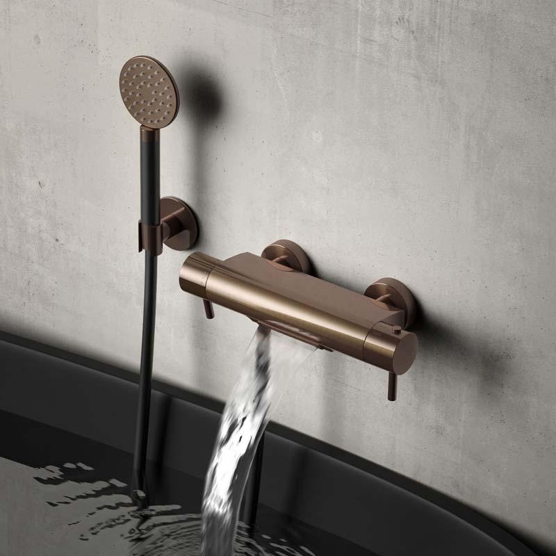 luxe kraan hotbath brons