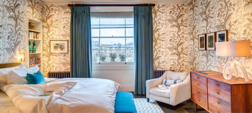 luxe slaapkamer behang