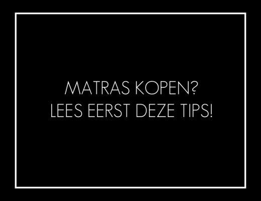 Matras kopen tips