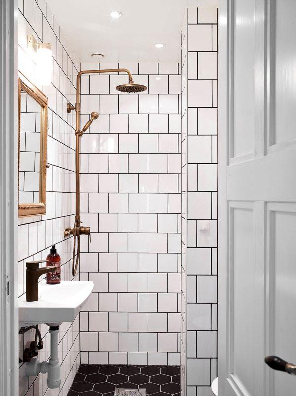 metrotegels badkamer goud