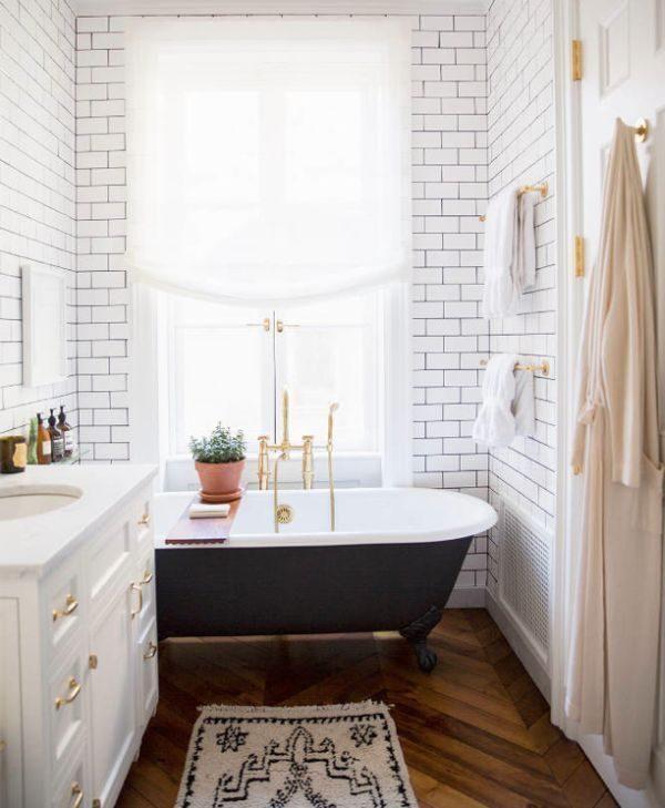 metrotegels badkamer zwart-wit