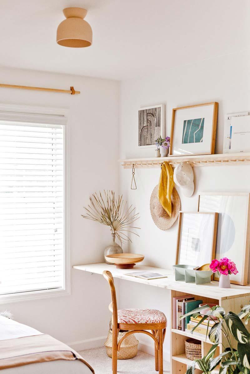 minimalistisch bureau opbergruimte maken