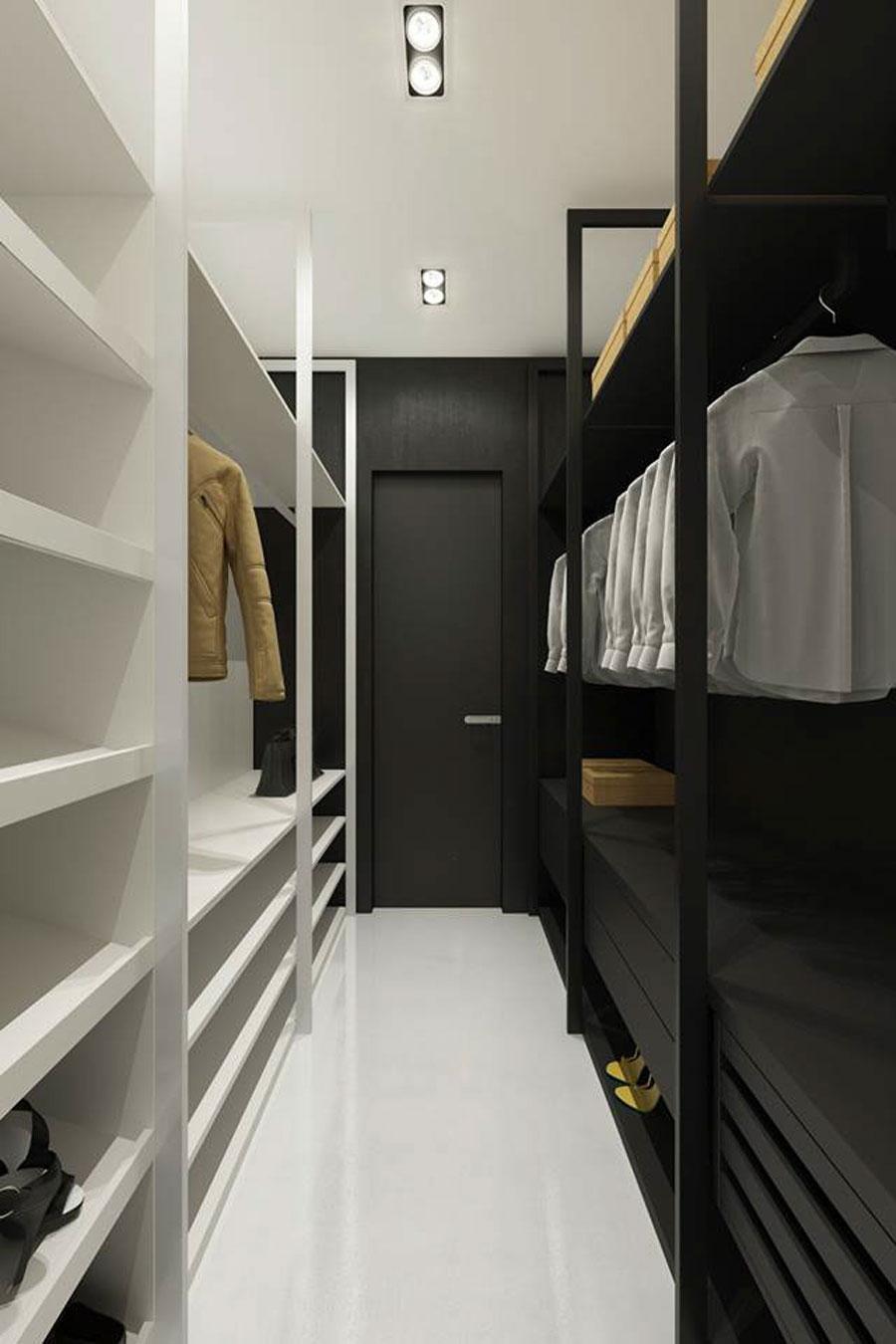 minimalistische moderne inloopkast