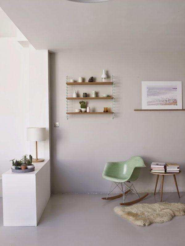 mint groene eames chair