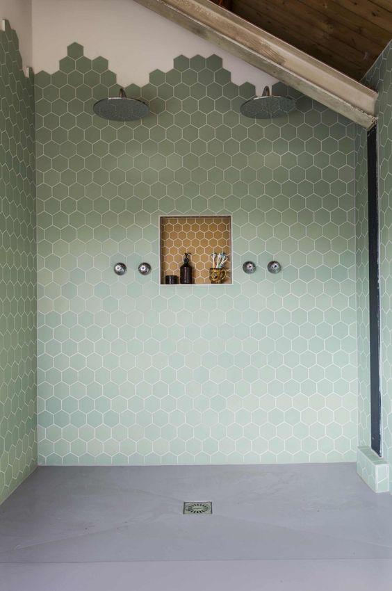 Mintgroen interieur