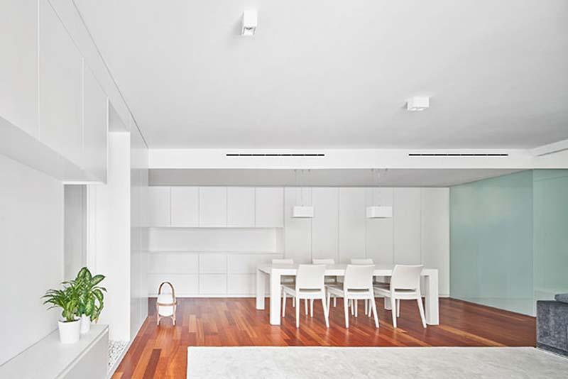 modern interieur eethoek