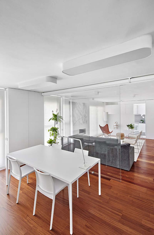 modern interieur glazen wand