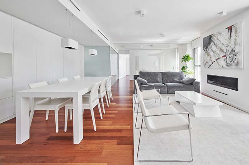 modern interieur ruime woonkamer