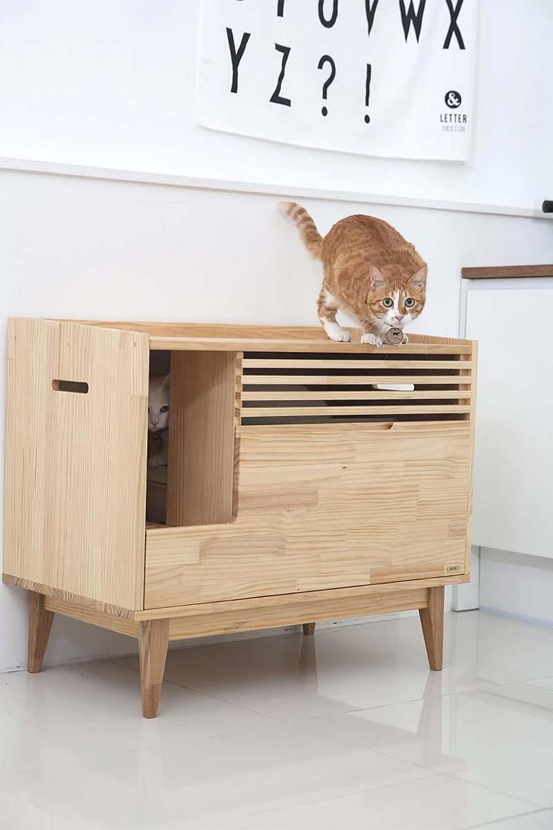 Modern retro kattenhuis