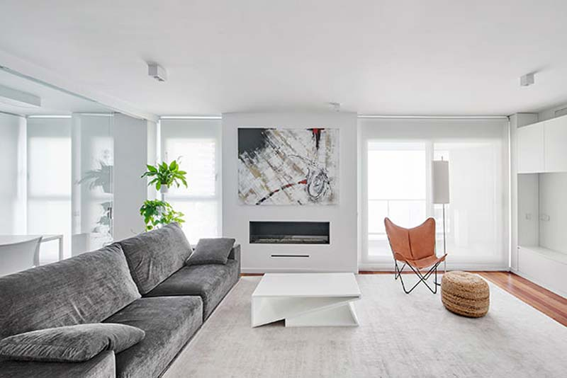 moderne woonkamer moderne open haard