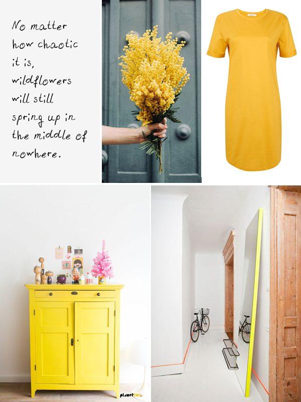 moodboard geel