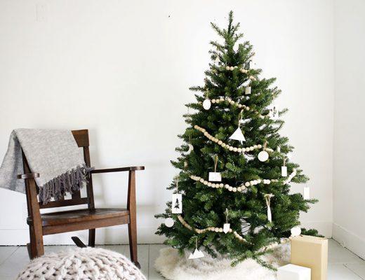 Mooie minimalistische DIY kerstboom