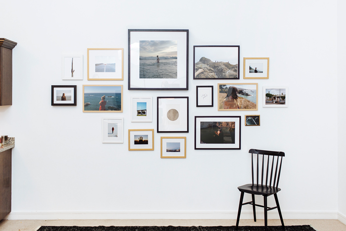 muur collage maken lijsten