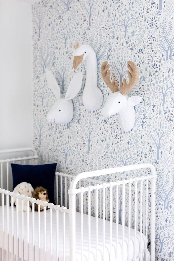 muurdecoraties babykamer knuffel dierenkoppen