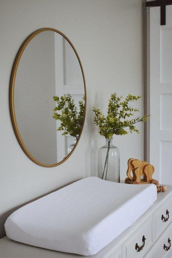 muurdecoraties babykamer ronde spiegel