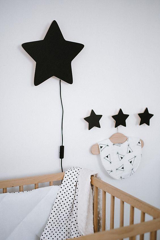 muurdecoraties babykamer wandlamp ster