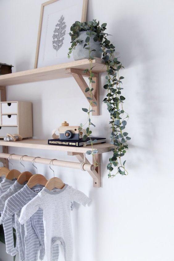 muurdecoraties babykamer wandplanken