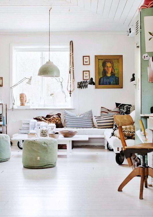 olijfgroen woonkamer