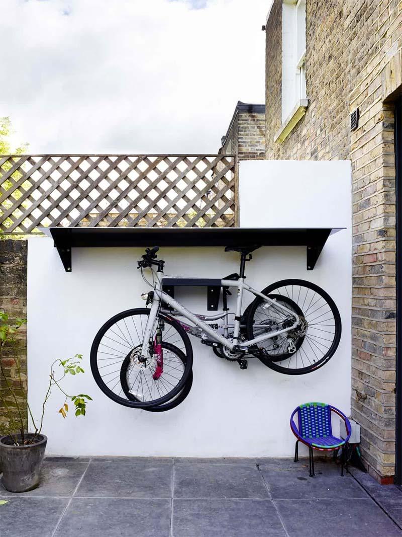 opbergruimte tuin fietsen ophangen