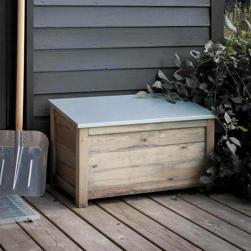 opbergruimte tuin houten opbergbox