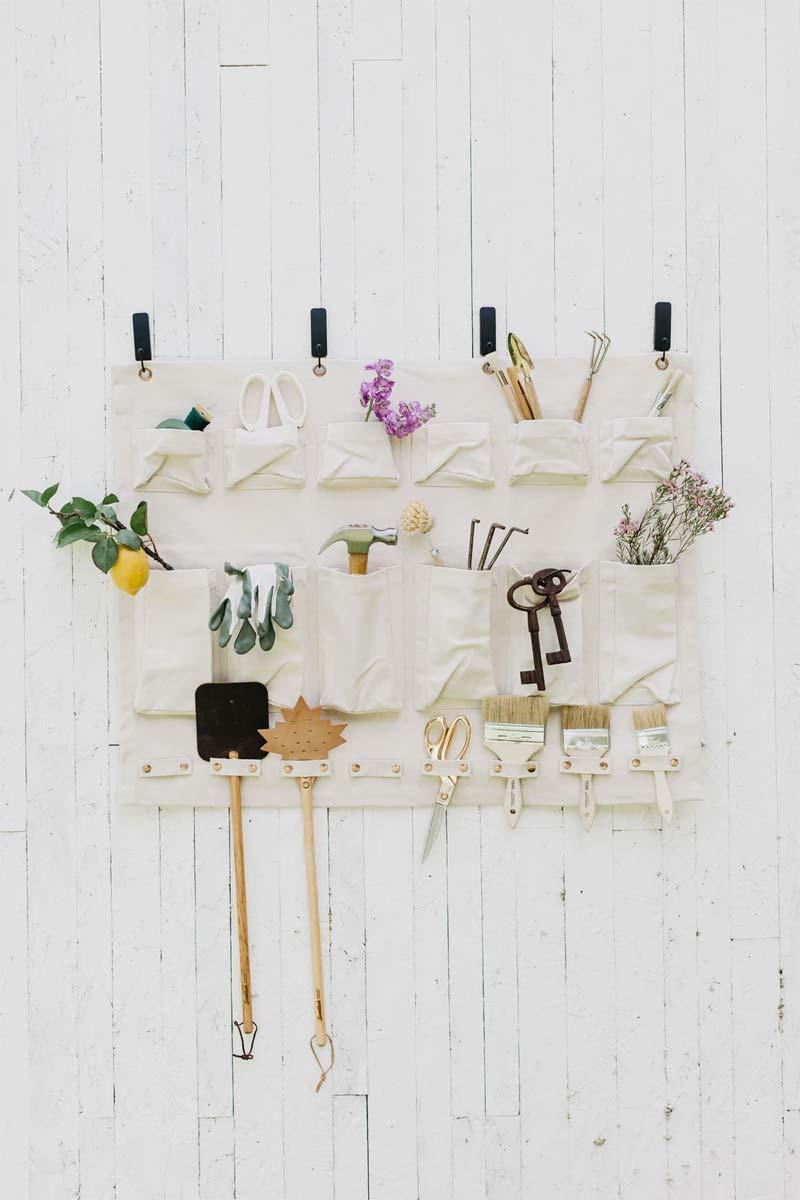 opbergruimte tuin wandorganizer