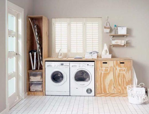 opbergruimte wasmachine