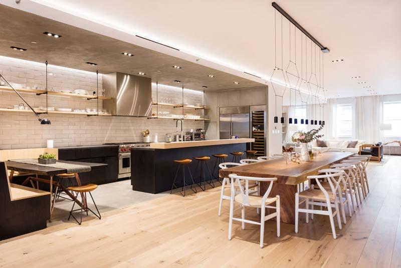 open keuken grote eettafel
