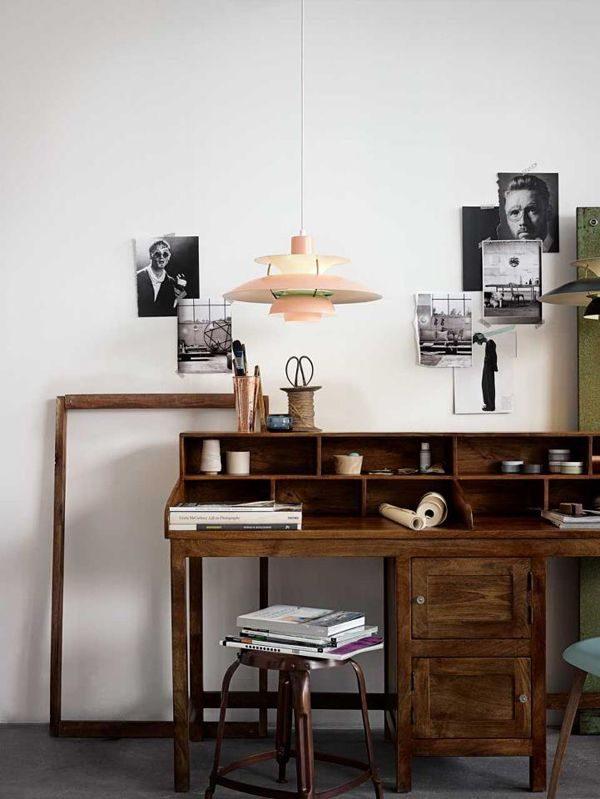 oud houten bureau