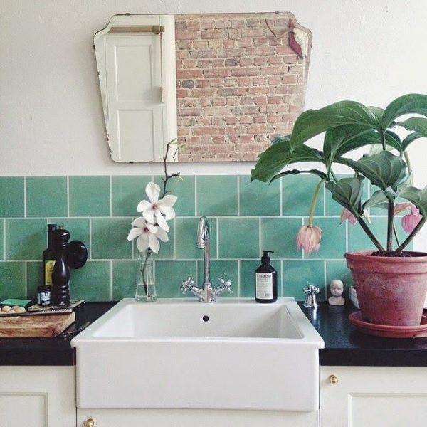oude spiegel badkamer