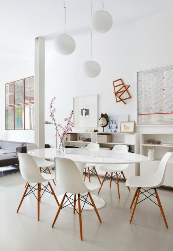 ovalen tafel eetkamer