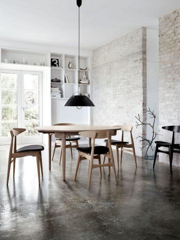 ovalen tafel hout