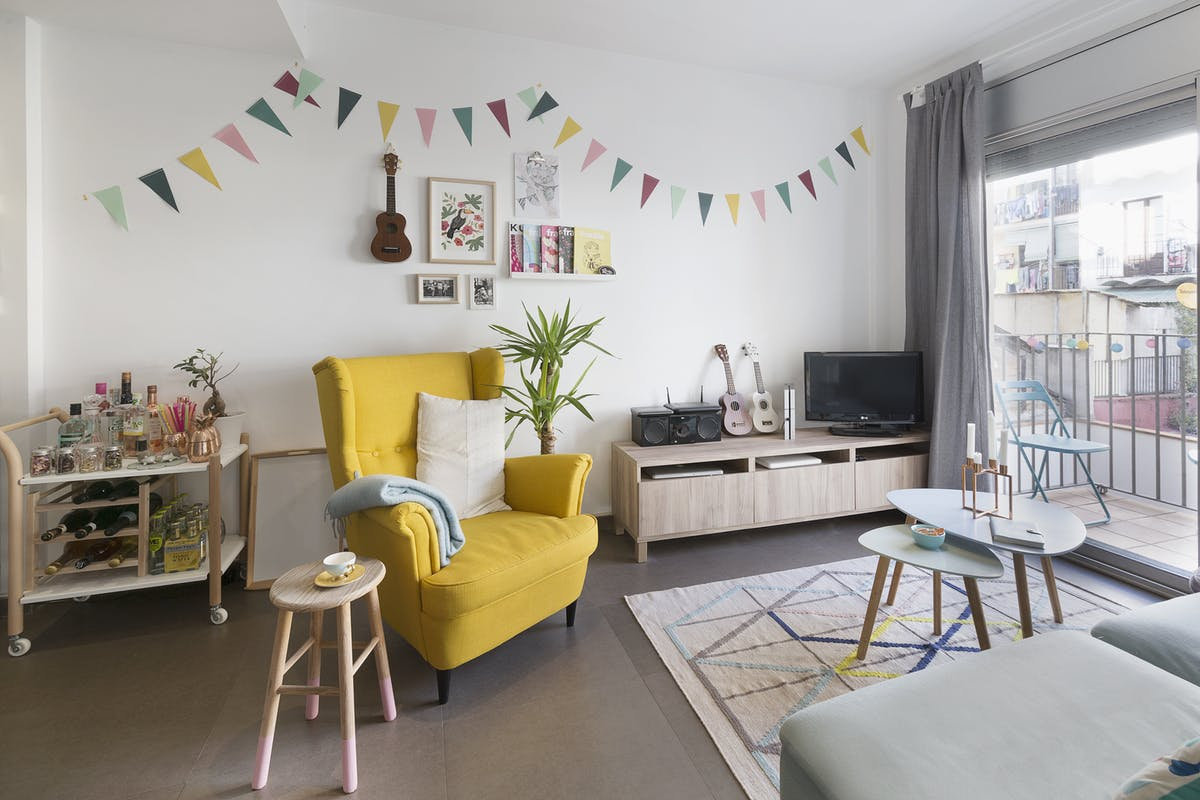 Scandinavisch Pastel Interieur : Een pastel interieur in barcelona thestylebox