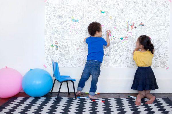 peuterkamer ideeën kleurplaat op de muur