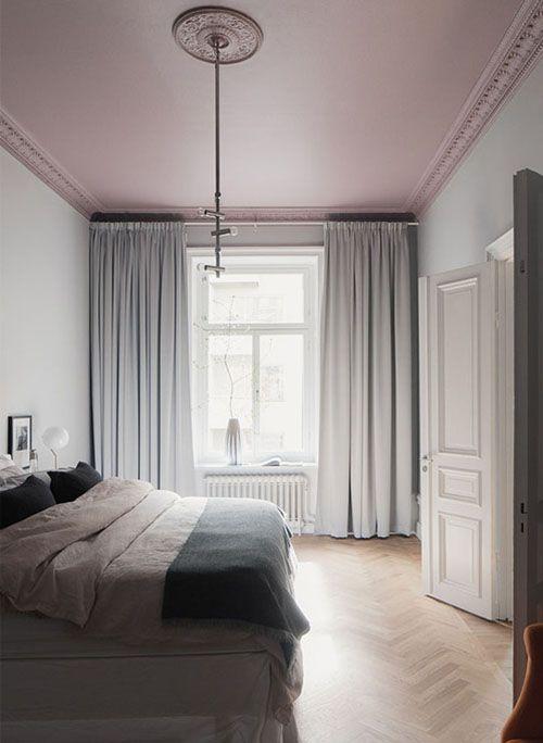 Plafond verven kleur roze
