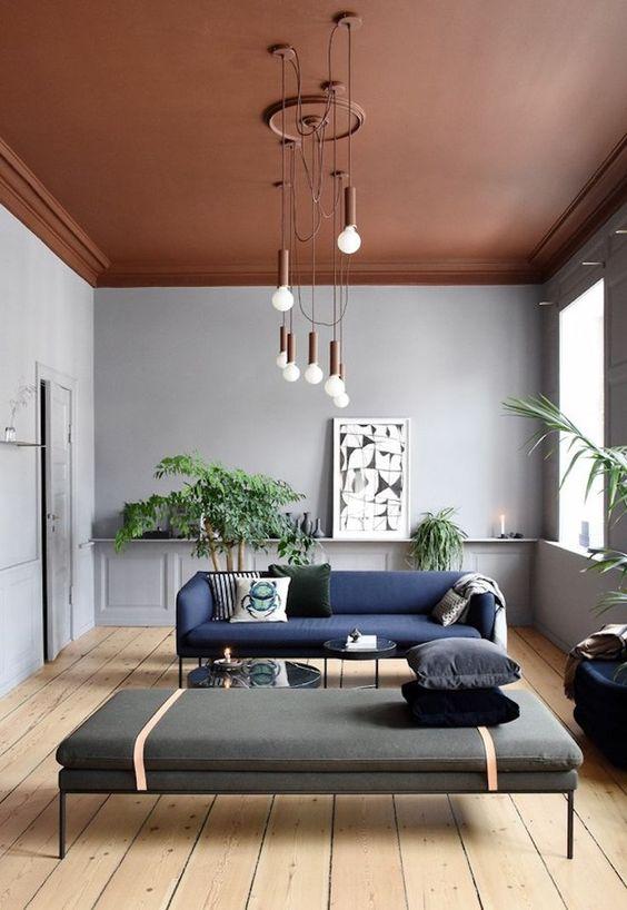 Plafond verven kleur terracotta