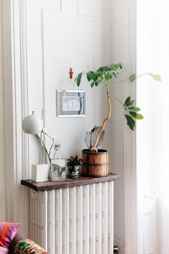 Plankje boven radiator