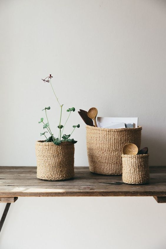 Botanisch interieur: Planten in manden - THESTYLEBOX