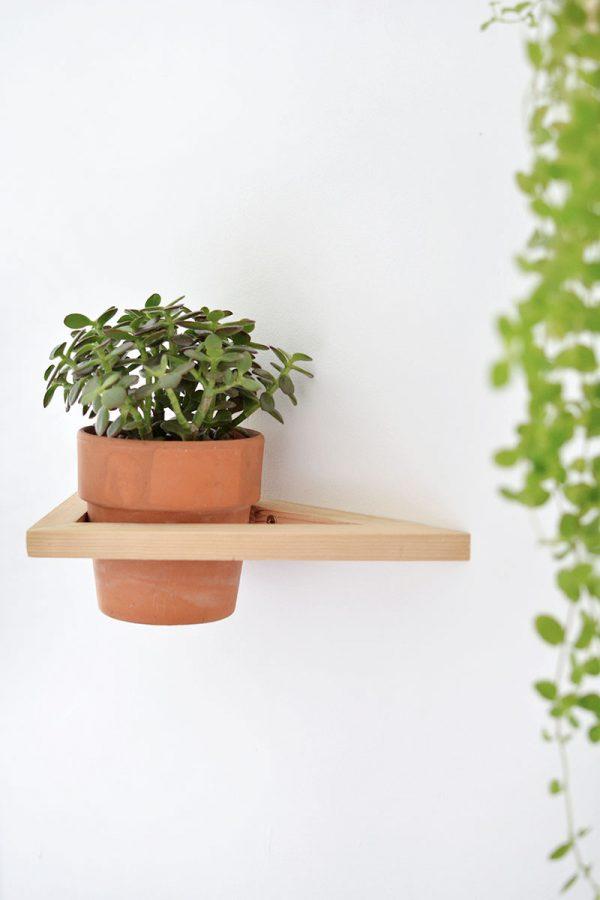 plant muur houder diy hout