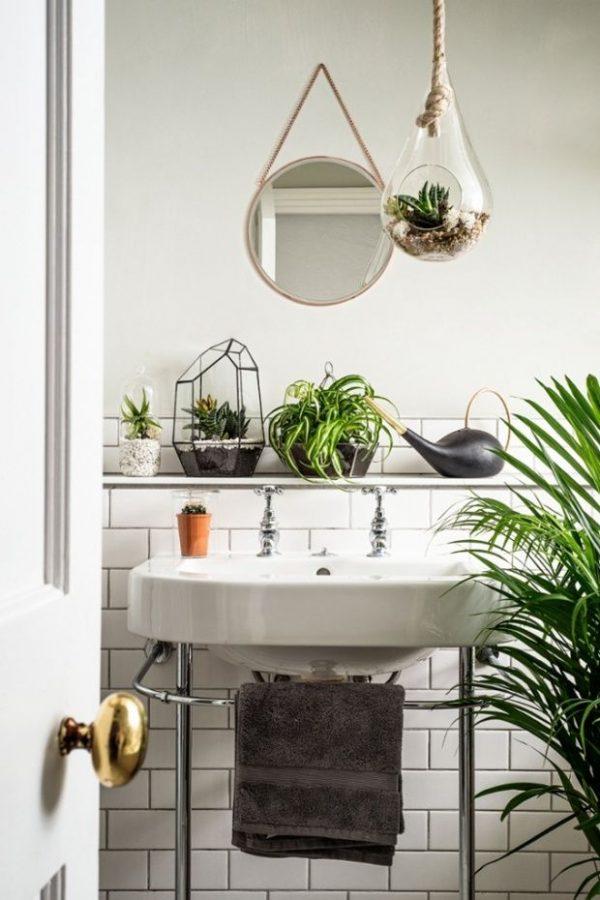 planten groen badkamer