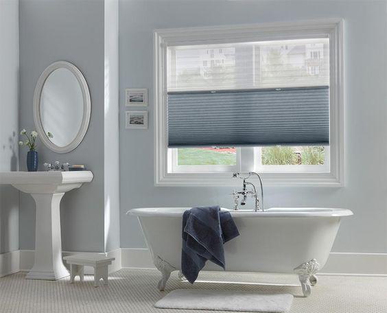 Plisségordijnen badkamer