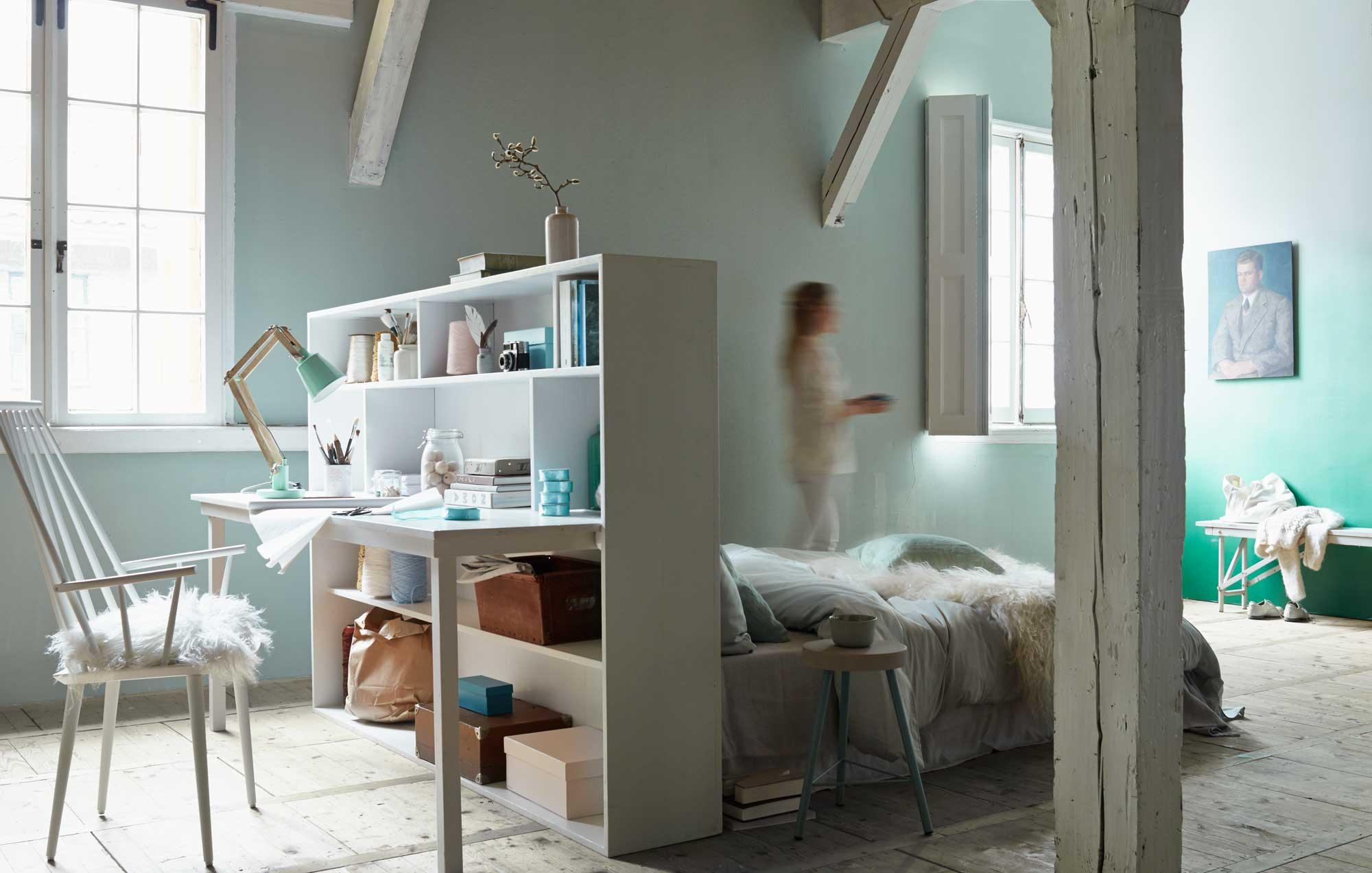 Slaapkamer Ideeen Vt Wonen : Roomdivider met meerdere functies ...