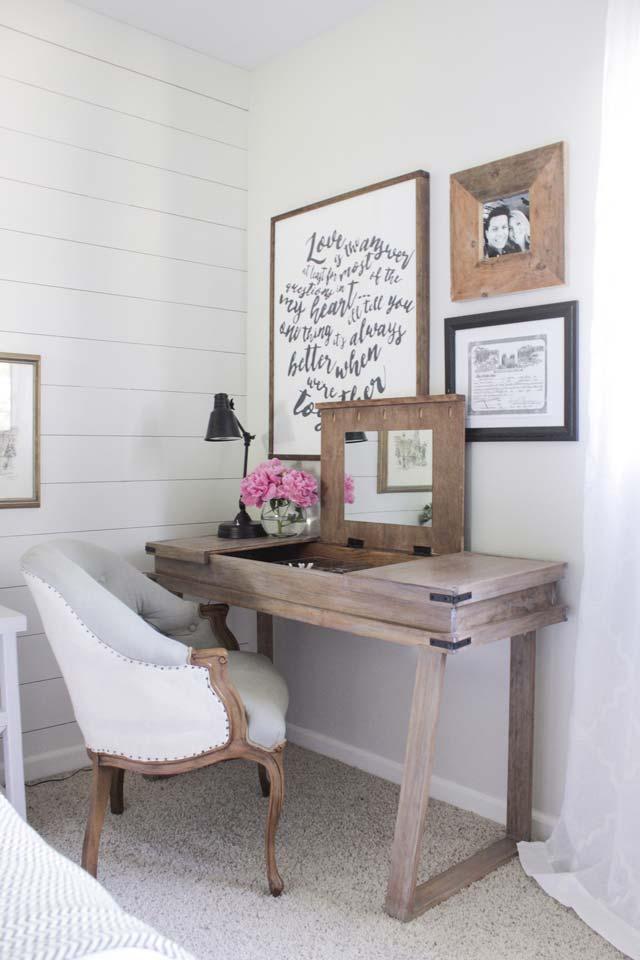 Rustiek bureau met opbergruimte zelf maken