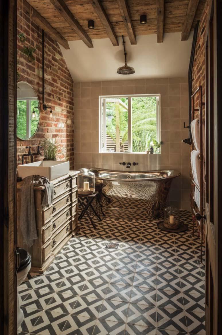 rustieke badkamer tegels