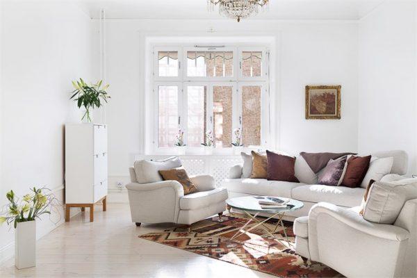 Scandinavisch klassiek appartement thestylebox for Scandinavisch design bank
